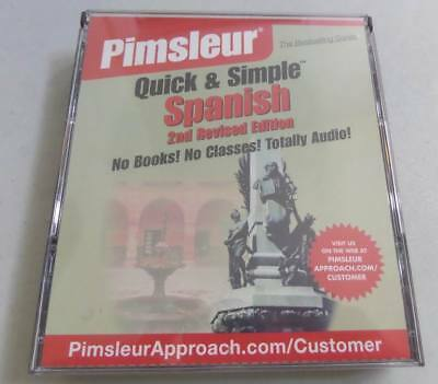 PIMSLEUR QUICK AND Simple Spanish 4 CD Audio Set 2nd Revised