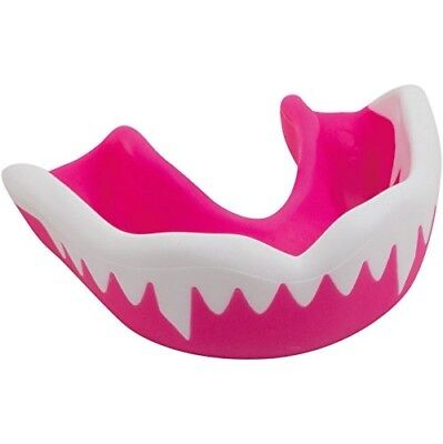 (Pink/White, Junior) - Gilbert Viper Mouthguard. Free Delivery