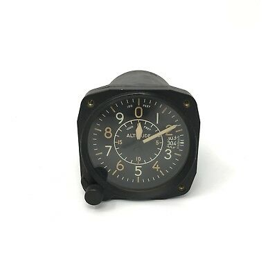 Vintage Altimeter Altitude Aircraft Gauge 1955 B-11 by Bulova Air Force Issue