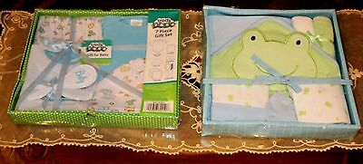 2 Baby Gift Sets 7 Pc. Set, 6 Pc Set For A Boy & Girl