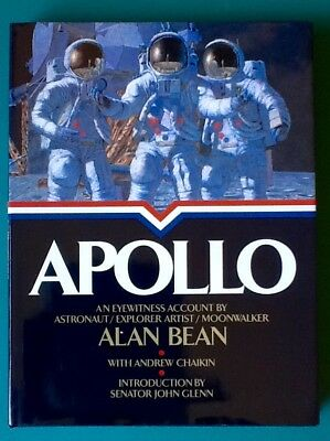 Apollo Book Signed Autographed by Moonwalker Alan Bean NASA 1st/1st HC/DJ