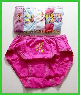BNIP undies BARBIE DOLLS Briefs girls knickers panties underwear 100% cotton