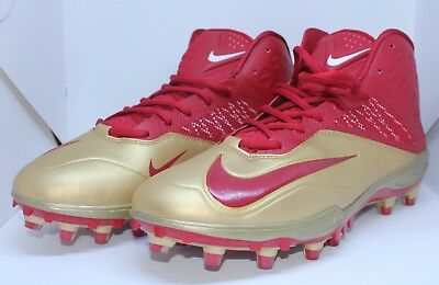 low priced 5b8ce 2c5a3 Nike Zoom Code Elite Red Gold Cleats Football 49ers 620499-628 FSU Men Size  13