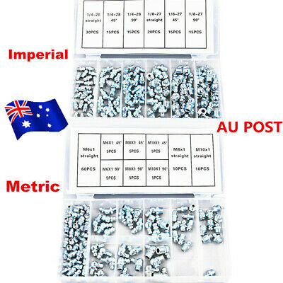 440pcs Metric + Imperial Grease Nipple Hydraulic Mechanical Lubricant Fittings