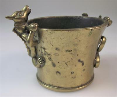 A Chinese 19th century polished bronze qilin censer with cast Xuande mark