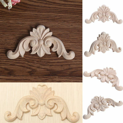 1/5/10Pcs Wood Carved Onlay Applique Frame Home Furniture Cabinet Decal Decor