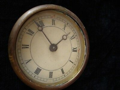 Antique Clock Face, Shell & Mechanism - Possibly Mantel, Possibly Dashboard