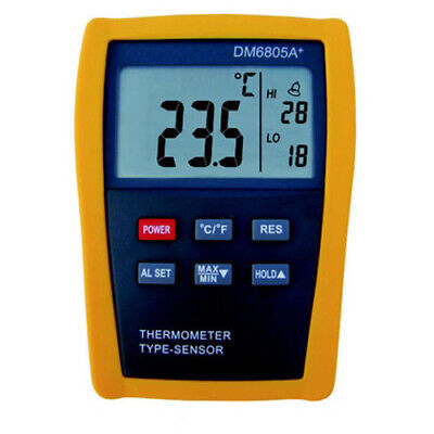 Contact thermometer + Temperature Probe type K +300°C (DM6805A +)
