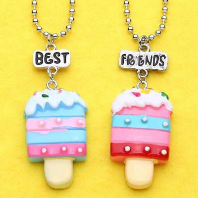 Girl Children Best Friends Forever Sweet Ice Cream Necklace Friendship Gift T