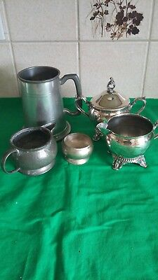 Pewter and silver plated items
