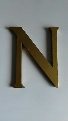 vintage original wooden shop sign letter N