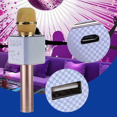 Wireless Handheld Karaoke USB Microphone KTV Player Mini Bluetooth Mic Speaker