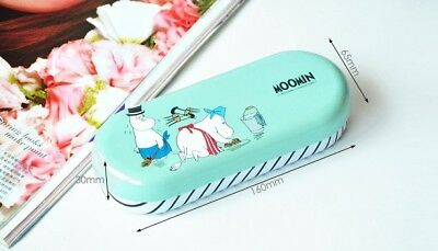 Moomin Characters Little My Metal Glasses box Aqua