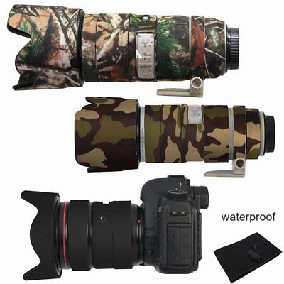 Waterproof Black Camouflage Rubber Camera Lens Protective Coat Cover For Canon