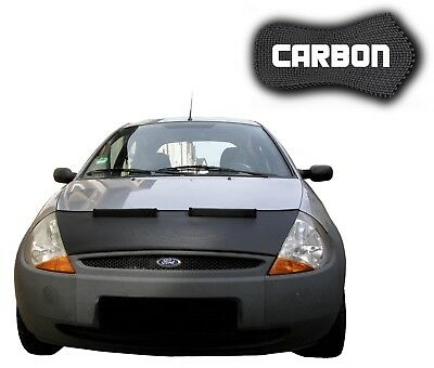 Bonnet Bra Ford Ka Carbon Stoneguard Protector Front Car Mask Cover Tuning