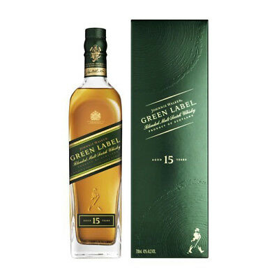 Johnnie Walker Green Label 15 Year Old Blended Malt Scotch Whisky (700ml)