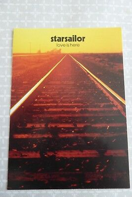 Starsailor - Love Is Here,  promotional postcard, 2001