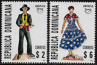 Dominican Rep #1233-4 Mint Never Hinged Set - America Issue