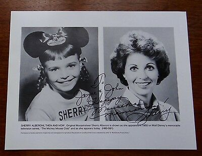 Autograph Hand Signed 8X10 Mousketeer Mickey Mouse Club Then Now SHERRY ALBERONI