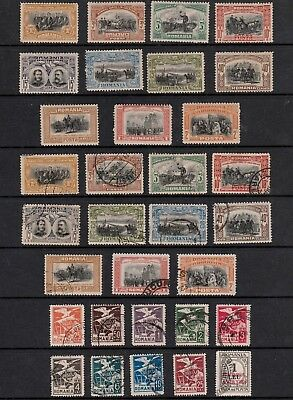 ROMANIA 1906-1920s LARGE SELECTION OF MINT & USED STAMPS INCLUDING HIGH VALUES