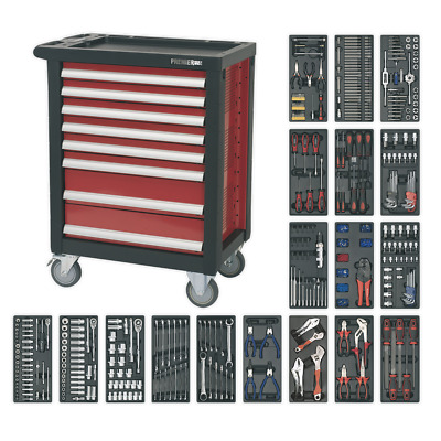 AP2408TTC08 Sealey Rollcab 8 Drawer with Ball Bearing Runners & 707pc Tool Kit
