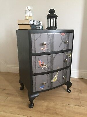 Black Bird, Holden Decor Bedside Cabinet Drawers Epping Forest Side Table Coffee