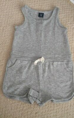 bf48e7d3735 Baby Gap Girl Heather Grey Romper Size 18-24 Months One Piece Adorable!