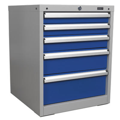 API5655B Sealey Cabinet Industrial 5 Drawer [Industrial Workstations]