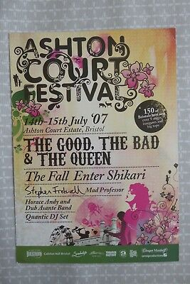 Ashton Court Festival Bristol 2007 - promo flyer. The Good The Bad & The Queen