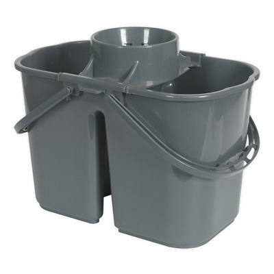 BM07 Sealey Mop Bucket 15ltr - 2 Compartment [Janitorial]