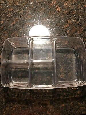 LONGABERGER Plastic Basket Protector #48500 Small Gathering Pantry 5 Way Divided