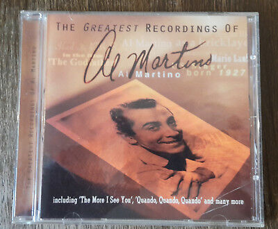 The Greatest Rocordings of Al Martino Musik Cd