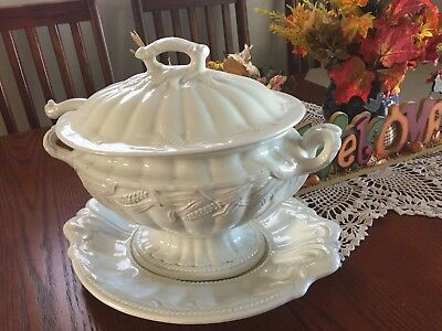 red cliff ironstone soup tureen
