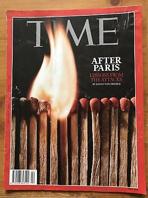 Rare TIME Magazine, 2015 After PARIS, Lessons From The Attacks By D V Drehle