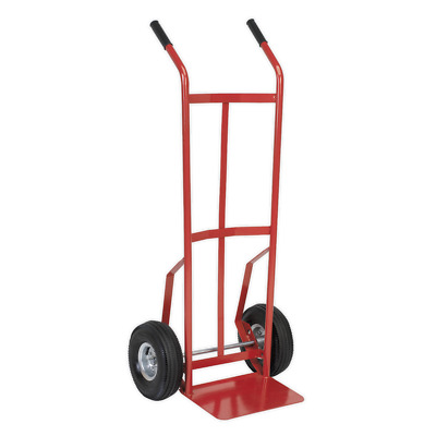 CST987 Sealey Sack Truck with Pneumatic Tyres 200kg Capacity [Sack Trucks]