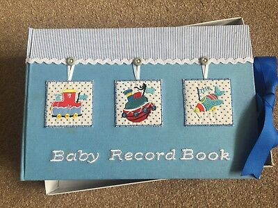 BNIB Train Ship & Plane Baby Record Book - Excellent condition (box damaged)