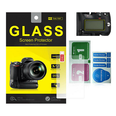 Tempered Glass Screen Protector w/ Top LCD for Nikon D850 DSLR Camera