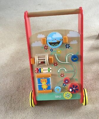 TIDLO Wooden Baby Activity Walker