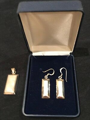 Sterling Silver Pendant and Earring Set - New