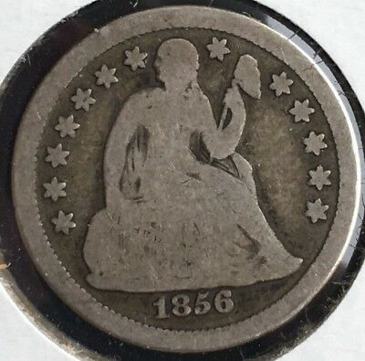 1856 Small Date Seated Liberty Dime 10c