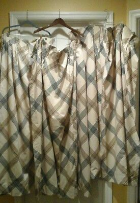 """Estate Set Of 4 Panel Curtains, Nice Condition, There About38"""" Across X 52""""l,see"""