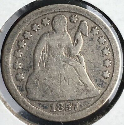 1857 & 1858 Seated Liberty Dime Combo 10c