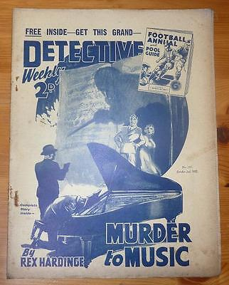 DETECTIVE WEEKLY No 241 2ND OCT 1937 MURDER TO MUSIC BY REX HARDINGE