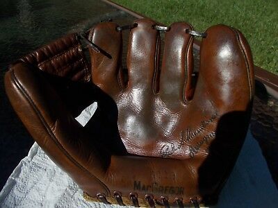 VINTAGE/OLD.1950's.RED SCHOENDIENST.RAWLINGS LEATHER BASEBALL GLOVE/MITT.ANTIQUE