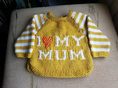 Hand Knitted Baby Jumper for girl or boy