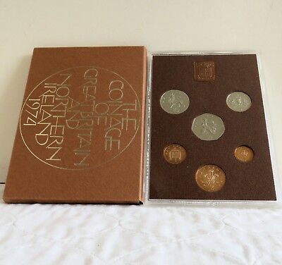 1974 GREAT BRITAIN & N IRELAND 6 COIN PROOF SET - unopened/outer