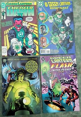 Mixed lot of GREEN LANTERN / FLASH comic books & graphic novels (1991-2001)