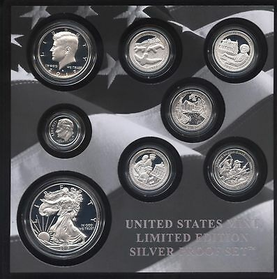 2017-S U.S. Mint Limited Edition Silver Proof Coin Set - COA Incuded