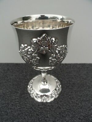 """Reed and Barton King Francis 1662 Silver Plate 5-1/4"""" Wine Goblet Reed Barton"""