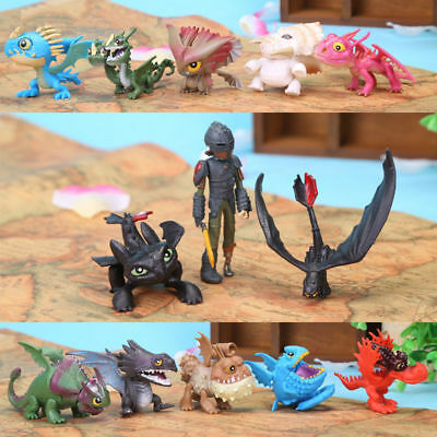 13pcs/set How To Train Your Dragon Figure Hiccup Toothless Night Fury Nadder Toy
